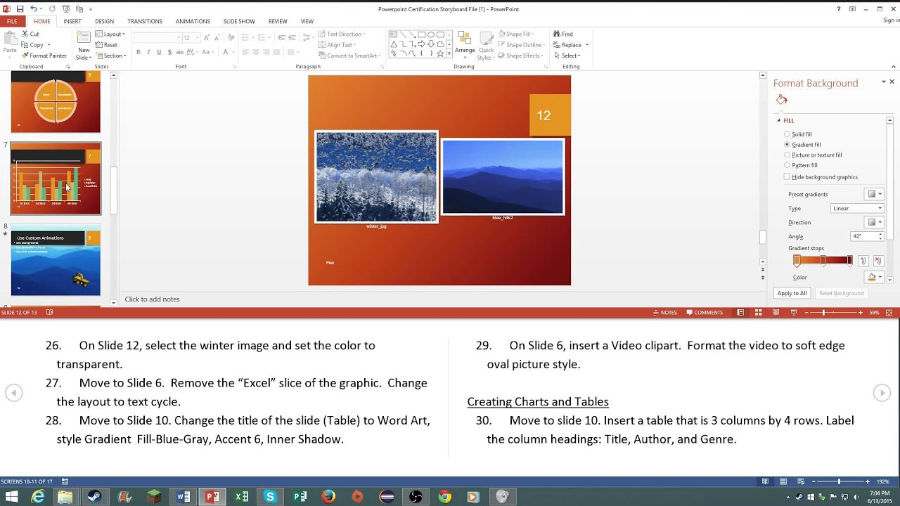 Mos microsoft powerpoint 2013 certification review youtube mos microsoft powerpoint 2013 certification review xflitez Image collections