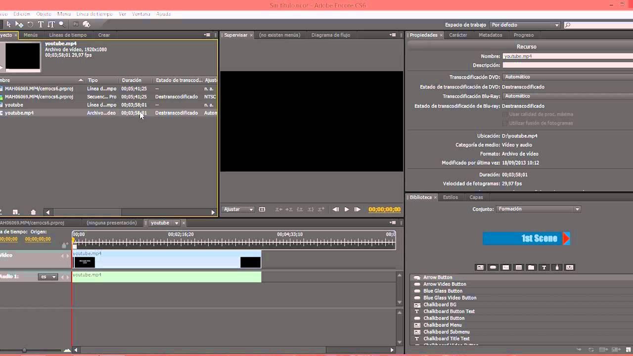 Configurar Encore para autoría de DVD - YouTube