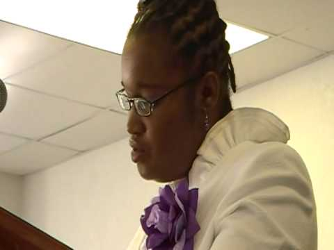 Sanisha Rolle sang at Row's Home going
