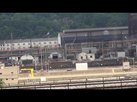 US Steel's Union Railroad SW1500's move hot metal cars @ Braddock, PA plant 7/10/14 00007