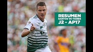 embeded bvideo Resumen Santos - Tigres