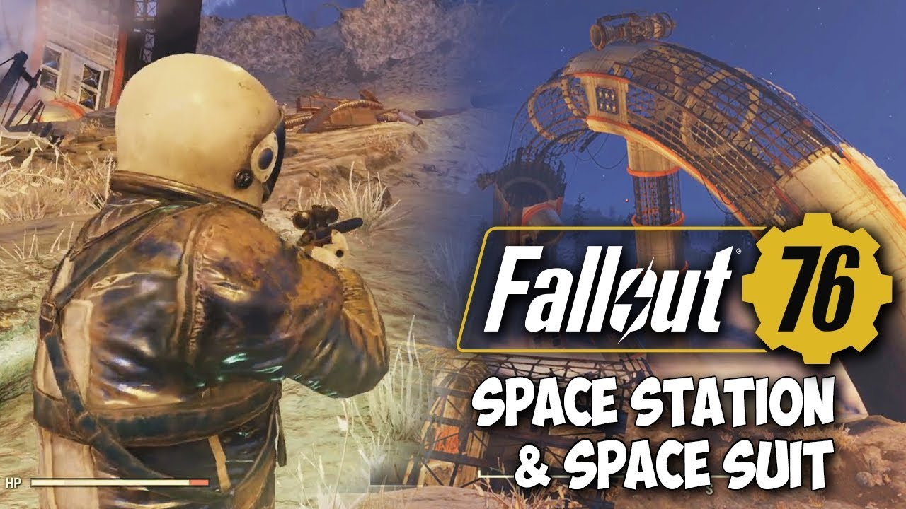 Fallout 76 - Exploring Crashed Space Station & Getting Space Suit! (+600  Caps)