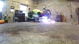 mig welding aluminum with hobart handler 190 spool runner 100
