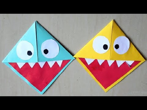 DIY - Easy Paper Monster & Owl Corner Bookmarks || Paper Owl Bookmark