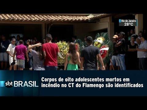 Corpos de oito jogadores do Flamengo são identificados | SBT Brasil (09/02/19)