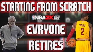 NBA 2K16 MY LEAGUE CHALLENGE: EVERYONE RETIRES!!! KYRIE? CURRY? WESTBROOK?