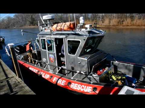 SUFFOLK COUNTY FIRE BOATS IN ACTION