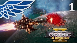 BATTLEFLEET GOTHIC ARMADA 2 | Imperium vs Tyranids Part 1 - BFG Armada 2 Beta Let's Play Gameplay