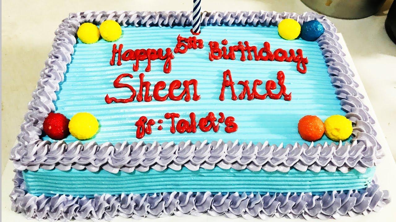 SIMPLE BIRTHDAY CAKE DESIGN FOR BEGINNERS | CAKE ...