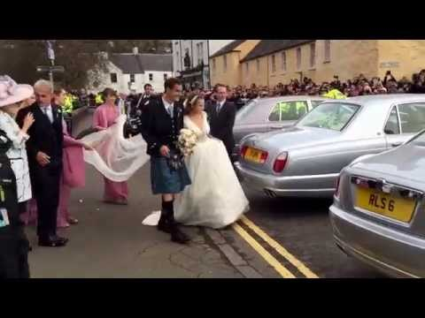 Newly married Andy Murray and Kim Sears leave Dunblane Cathedral as husband and wife