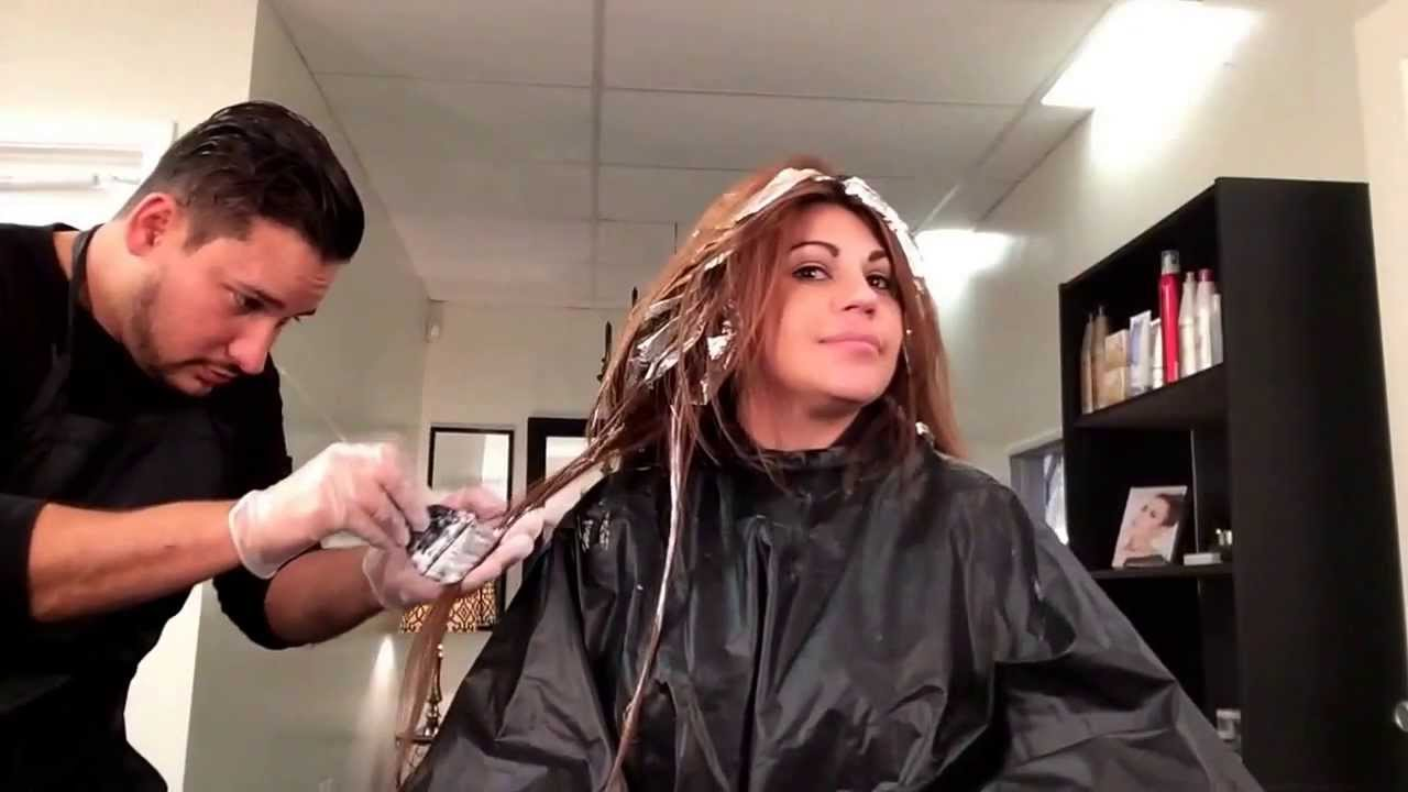 How To Make Highlights On Long Hair Or Extensions By Cesar Rosario