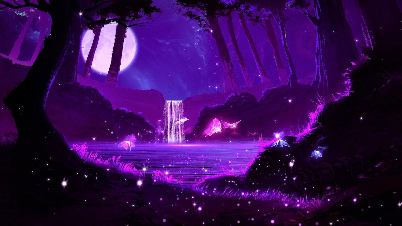 Beautiful Night 💜 Calm Deep Sleep Music   Serene Sleeping Music   Healing Relaxing Music