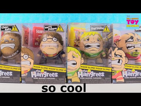 The Hangrees Slime Parodies Series 1 Toy Review Unboxing | PSToyReviews