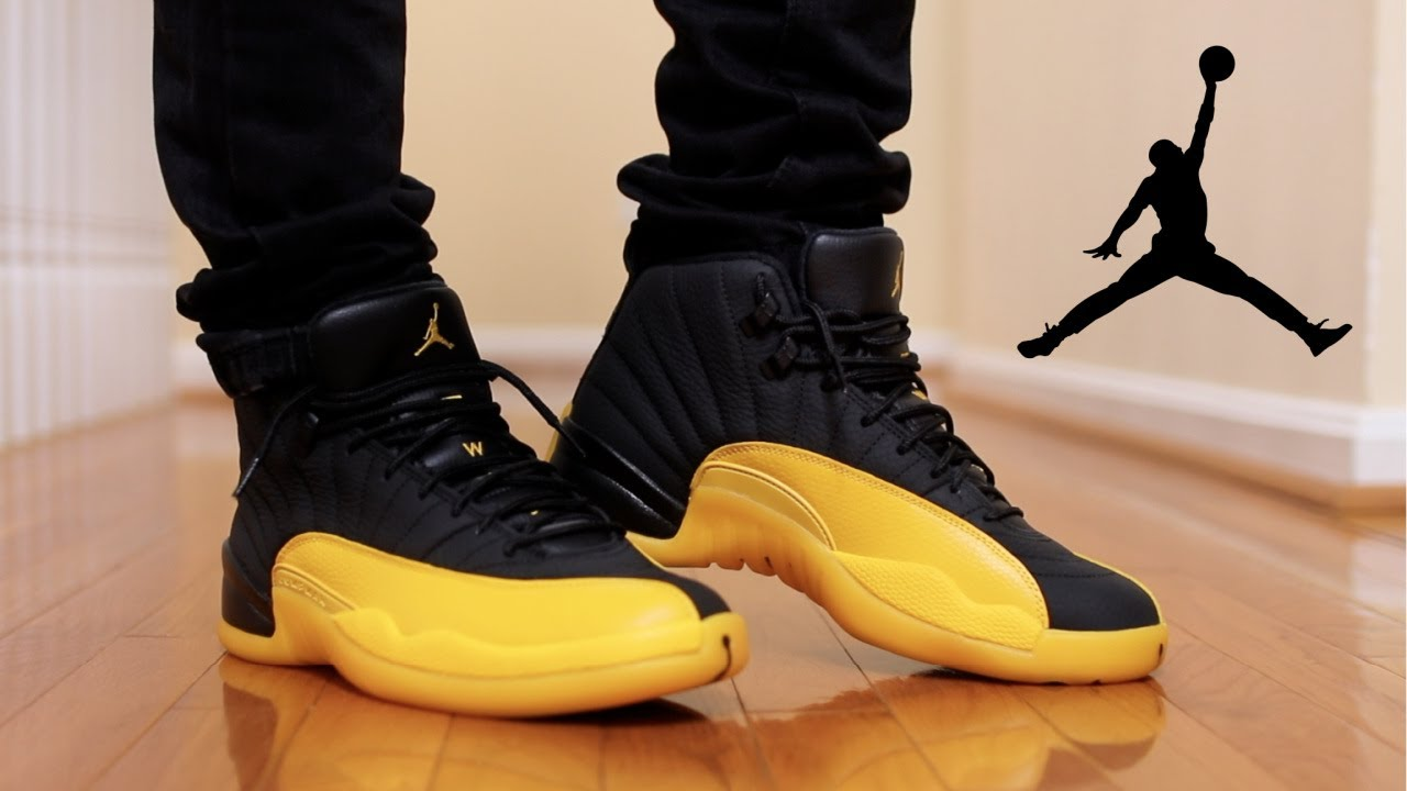 air jordan 12 university gold box