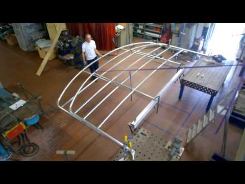 Structure for boat cover - Tendalino a due centine