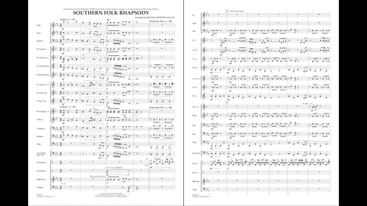 Southern Folk Rhapsody arranged by Michael Sweeney