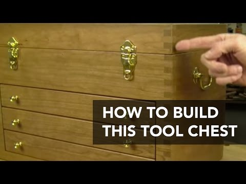 Classic Wooden Tool Chest Project