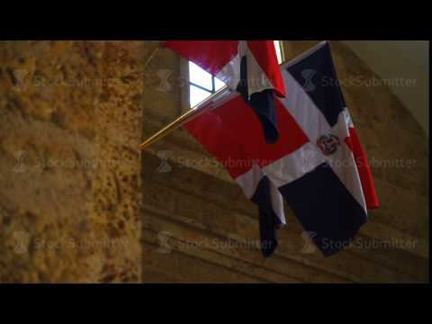 Dominican Republic Flags hanging