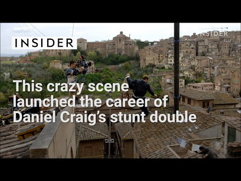 Daniel Craig 's stunt double jump-started his career from this crazy scene!
