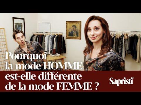 Pourquoi la mode HOMME est différente de la mode FEMME - Sapristi #8