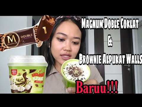 MAGNUM DOUBLE CHOCOLATE & BROWNIE ALPUKAT WALL'S LIMITED EDITION ESKRIM REVIEW
