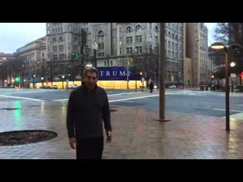 In Washington DC at the Trump Hotel on Pennsylvania Avenue