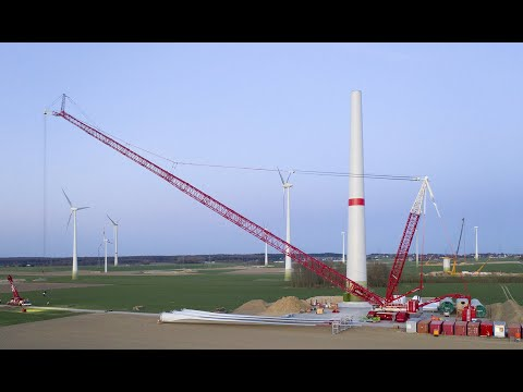 Liebherr - LR 1800-1.0 First job for wind power