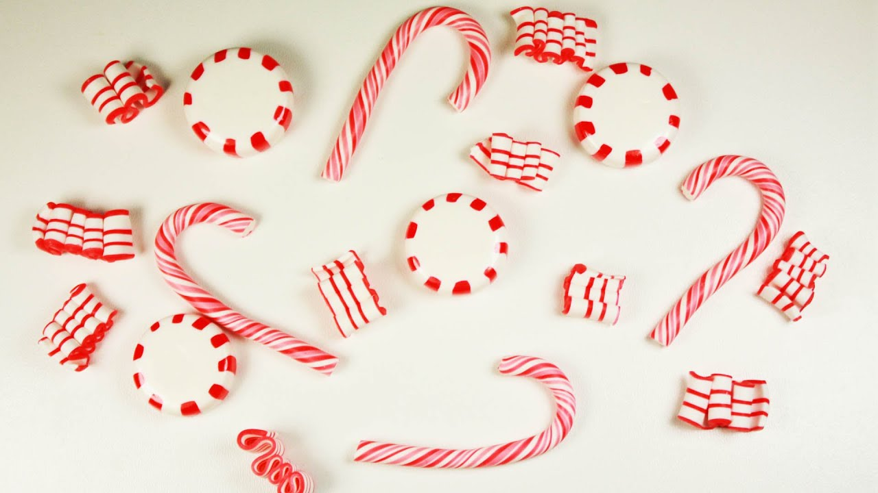 Polymer Clay Christmas Candiescandy Cane Peppermint Candy Ribbon TUTORIAL Collab News