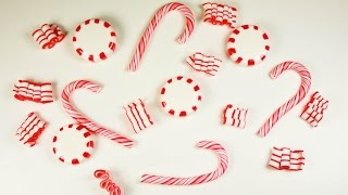 Polymer Clay Christmas Candies(candy Cane/peppermint Candy/ribbon Candy) Tutorial + Collab News!