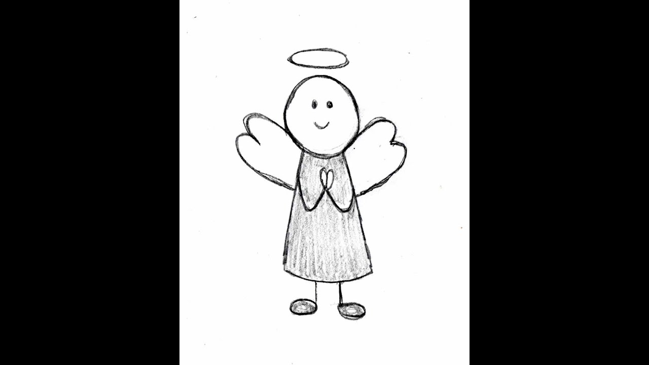 Uncategorized Easy To Draw Angels how to draw an angel step by youtube