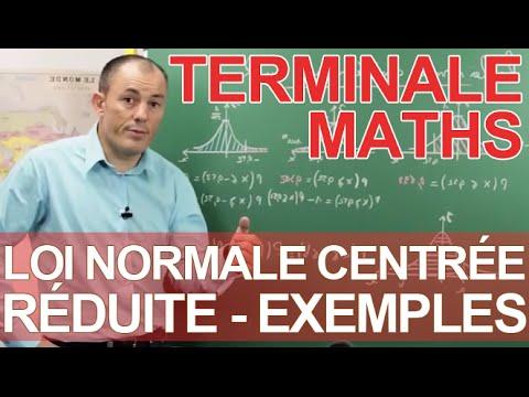 Loi normale centr e r duite exemples maths terminale - Table de loi normale centree reduite ...