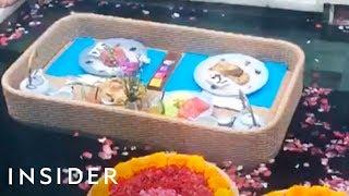 Villa In Bali Serves A Floating Breakfast