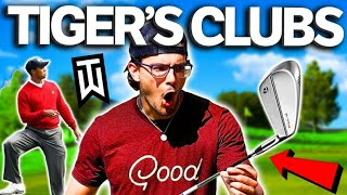 Playing With TIGER WOODS Irons! | The Match Matt Vs. Stephen