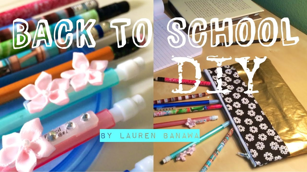 Decorate Pencil Case Back To School Diy Pencils And Pencil Case Youtube