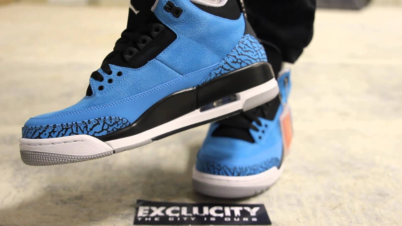 ... official store air jordan iii retro powder blue on feet video at  exclucity e0e64 5fbed 9915db4df