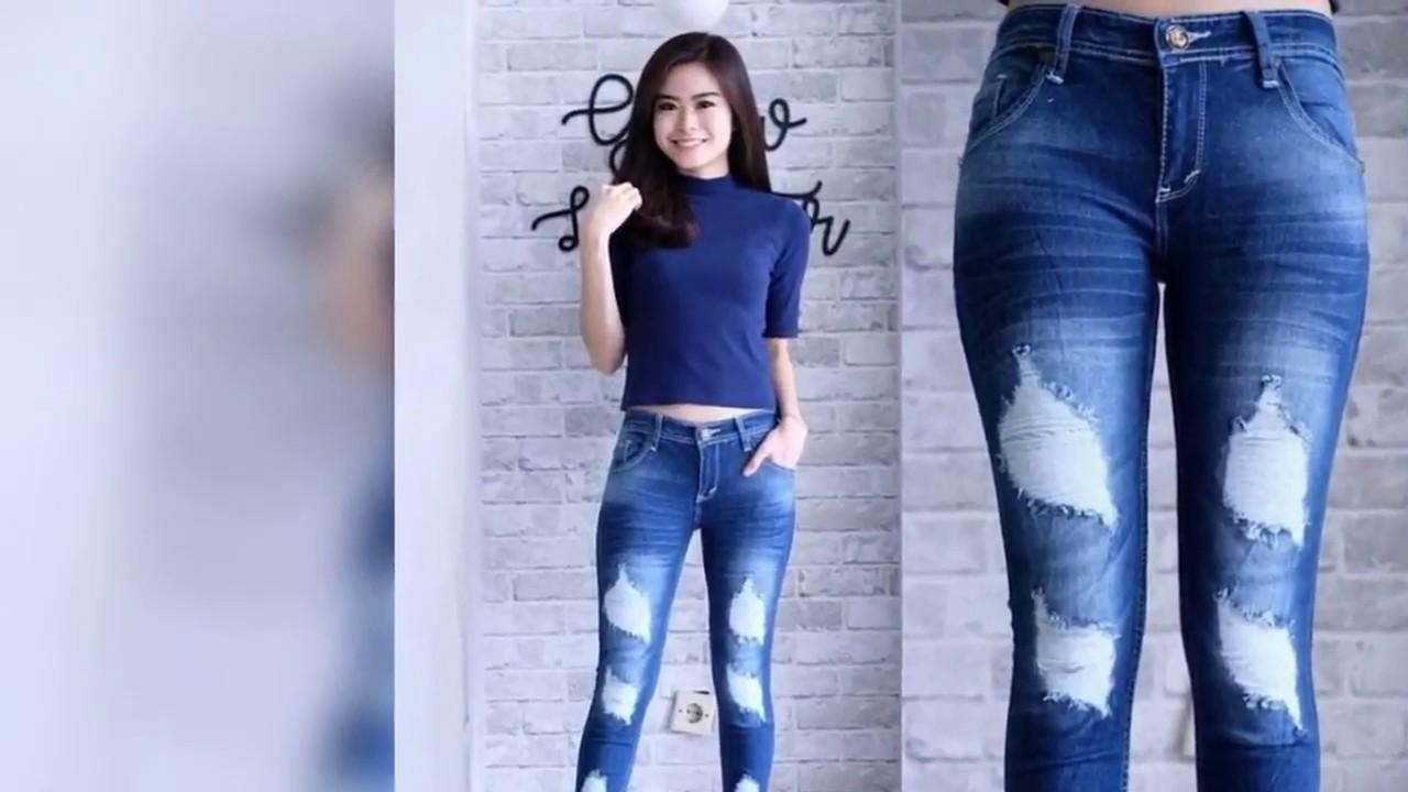 Celana Jeans Wanita 2019 Model Celana Jeans Cewek Kekinian 2019 Youtube