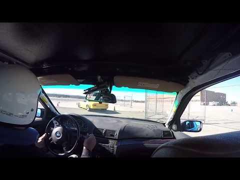 FCM BMW 330i autox LPR Porsche - Kill-a-Cone - Morgan Autism Center - Run 2