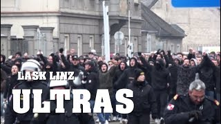 ULTRAS LASK Linz Ankunft in WIEN Hütteldorf | 25.11.2018