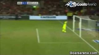 Dennis Rommedahl Amazing Volley Goal | Norway vs. Denmark 2011 Euro 2012 Qualifiers