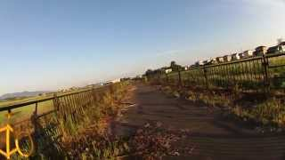 鶴岡市 庄内自転車道 大鳥居~国際村(起点、羽黒橋)