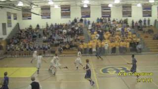 Acton Boxborough Varsity Boys Basketball vs Bedford 2/1/13