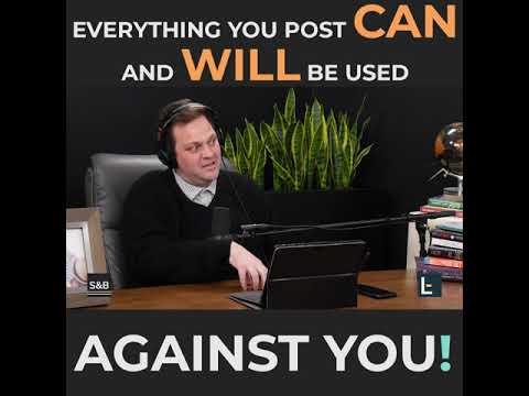 Legal Tip of The Week | Benjy Smith | Everything You Post Can And Will Be Used Against You