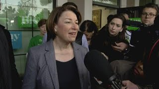 Klobuchar trying to keep momentum going as Navada Caucus underway