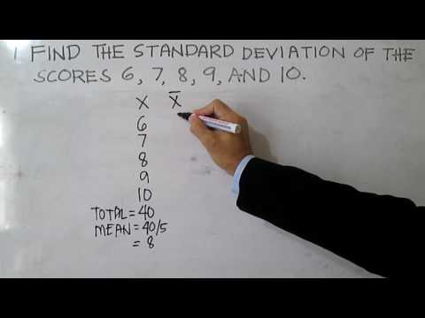 Standard Deviation (Ungrouped Data)