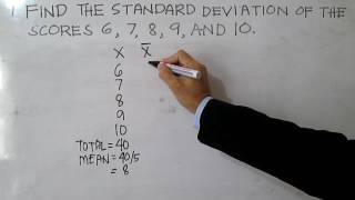 Standard Deviation (Ungrouped Data)