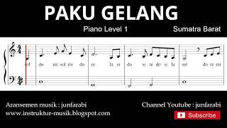 notasi balok paku gelang - piano level 1 - lagu daerah sumatra barat