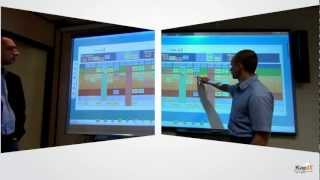 Overview of using SMART Boards with iObeya Digital Visual Management for Lean.