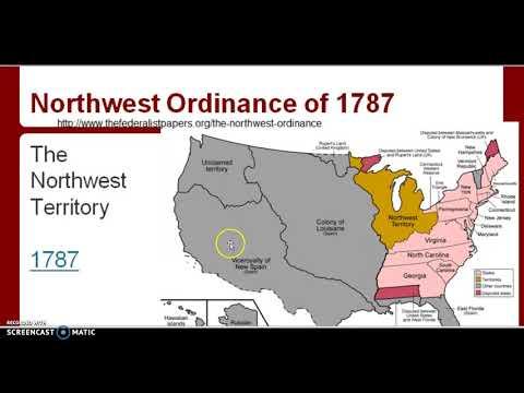 Northwest Ordinance of 1787 Notes