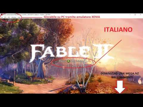 DOWNLOAD  ISO LINK MEGA NZ E TORRENT FABLE 2 ITALIANO XBOX 360 X360 +  EMULATORE PC