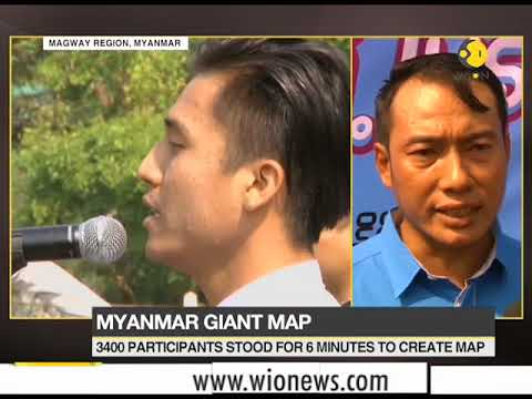 Myanmar attempts Guinness World Record with a giant map